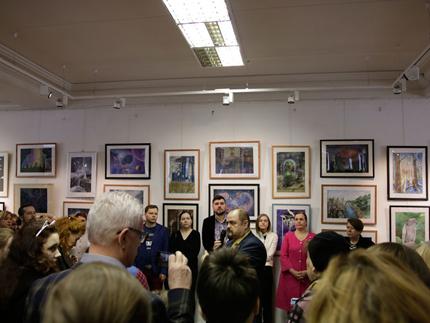 П.П. Козорезенко на открытии выставки